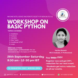 workshop on Basic python